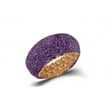Eternity Ring with PurpleSapphires in Gold or Platinum