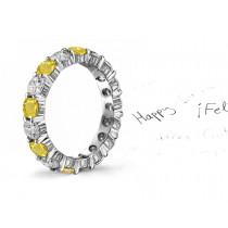 Yellow Sapphire & Diamond Rings