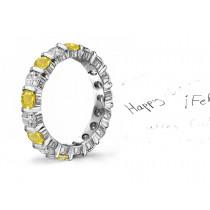 Engraved Diamond Sapphire Rings