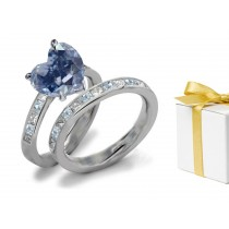 Blue Diamond & White Diamond Fancy Rings