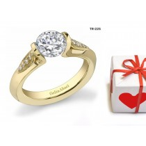 Modern Settings: Tension Set Precious Gemstone New Style Solitaire Rings