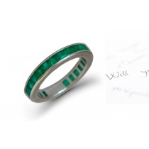 "Design & Style: ""Vibrant"" Lucious Crystal Green Hue Square Emerald Ring"