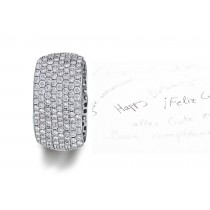 Micropavee Diamonds 8 Diamond Row Wedding Ring in Platinum & Gold