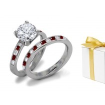 Red Diamond & White Diamond Fancy Rings