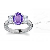 Truly UniqueSapphire Diamond Rings