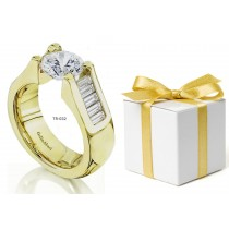 Platinum Gold Diamond Tension Set Settings