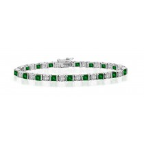 Premier Designer Colored Gemstone Jewelry Collection: New Emerald & Diamond Bracelet and Necklace