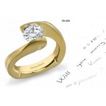 Modern Settings: Tension Set Precious Gemstone New Style Diamond Rings