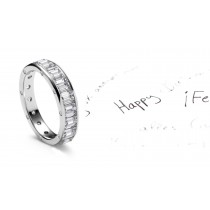 Impeccable:Emerald Cut Diamonds Cover The Entire Band & Sides Sprinkled inDiamonds