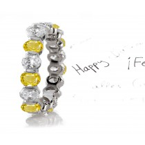 Impeccable: Yellow Sapphire & Diamond Eternity Rings