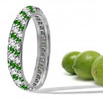 Gold, Emerald, & Diamond Micropavee Ring