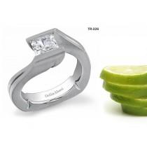 NEW Settings: Tension Set Precious Gemstone and Diamond Gold Rings