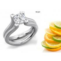 Latest Settings: Tension Set Precious Gemstone and Diamond New Rings