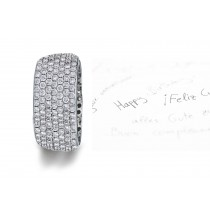 Micropavee Diamonds 7 Diamond Row Wedding Ring in Platinum & Gold