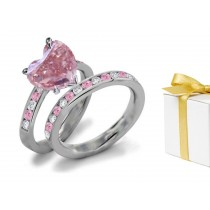 Pink Diamond & White Diamond Fancy Rings