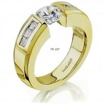 Platinum Tension Set Diamond Rings