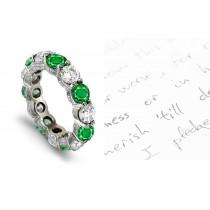 Hand Engraved Victorian Diamond Eternity Ring
