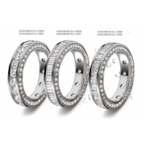 Sparkling & Glittering: A Princess & Baguette Cut Channel Set Diamond Ring Diamond Set Sides