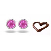 Popular Designer Colored Gemstone Jewelry: Blue Sapphire & Diamond Studded Earrings
