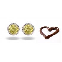 Premier Colored Diamonds Designer Collection - Yellow Colored Diamonds & Yellow Diamond Earrings
