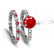 Intricate Beauty: Ruby & Diamond Engagement Wedding Ring