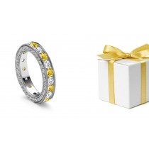 Classic Yellow Sapphires & Diamonds Eternity Ring Tension Free Guidebook