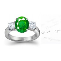 One-of-a- kind Emerald & Diamond Anniversary Ring