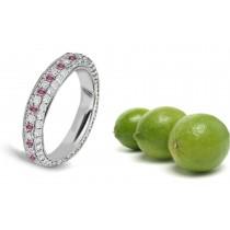 Pink Colored Diamonds & White Diamonds Fancy Pink Diamond Eternity Ring