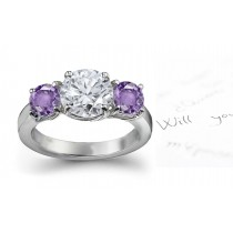 Classic: Pink Sapphire & Diamond Engagement Ring