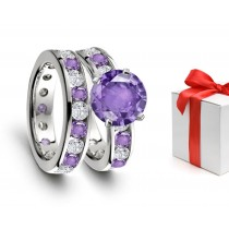 'Must Have': New Purple Sapphire & Glittering Diamond Engagement & Wedding Rings