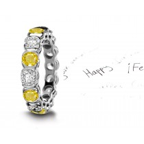 Delight: Simple, Modern Designs Studded Diamonds and Yellow Sapphires