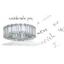 Strikingly Elegant:Prong Set Baguette Diamond WeddingBandin Platinum & Rose Gold Size 3 to 8