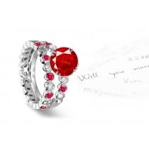Fascinating:Designer Ruby & Diamond Engagement Ring