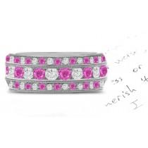 Pink Sapphire & Diamond Eternity Ring