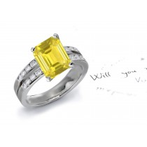 A Fascinating Yellow Sapphire & Diamond Engagement Ring