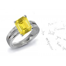 Breathtaking Yellow Sapphire & Diamond Engagement Ring