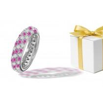 Pink SapphireDiamond Eternity Ring
