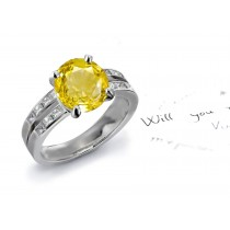 A Splendid: Yellow Sapphire & Diamond Engagement Ring