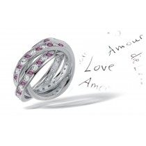 Premier Colored Diamonds Designer Collection - Pink Colored Diamonds & White Diamonds Fancy Pink Diamond Eternity Rings