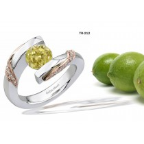 Platinum or Gold Fancy Color Yellow Diamond Tension Set Tension Set Engagement Rings