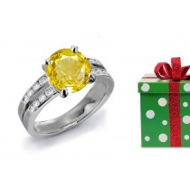 A Glorius: Yellow Sapphire & Diamond Engagement Ring