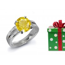 Sparkling: Yellow Sapphire & Diamond Engagement Ring