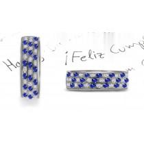 New Stacked Sapphire & Diamond Eternity Ring