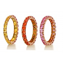 Eternity Ring with Colored Gemstonesin Gold or Platinum