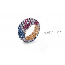 Celebrate Your Relationship With  Eternity Rings Featuring Diamonds & Rubies, Emeralds & Sapphires