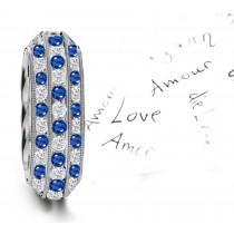 Milgrain & Stacked Diamond Anniversary Ring