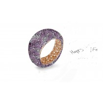 A Beautiful Collection of Eternity Rings Featuring Diamonds & Rubies, Emeralds & Sapphires