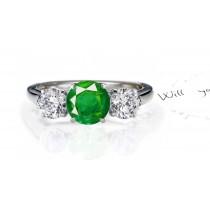 Everlasting Beauty: Premier Designer Genuine Emerald Diamond Engagement Ring