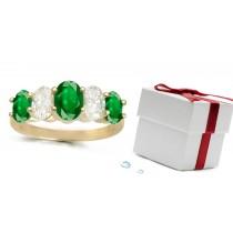 Emerald Anniversary Rings