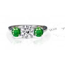 Dreams & Reality: ViewFine-Quality Emerald Diamond Designer Engagement Ring